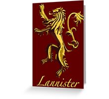 Lannister Greeting Card