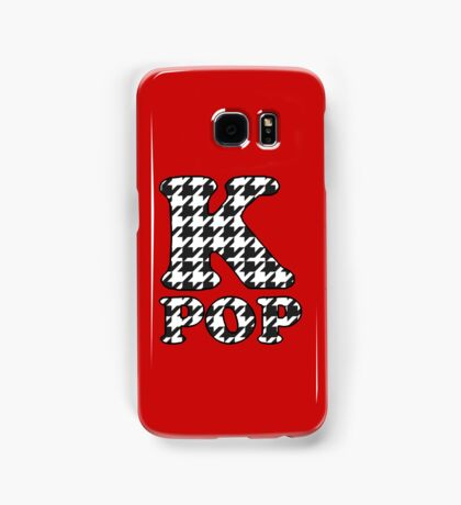 KPOP - BLACK HOUNDSTOOTH Samsung Galaxy Case/Skin