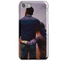 Clementine & Lee- The Walking Dead Game iPhone Case/Skin