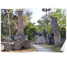 17th Century Sugar Cane Mill Poster