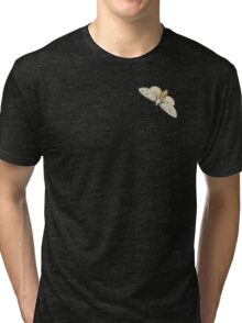 Vintage Butterfly White Tri-blend T-Shirt