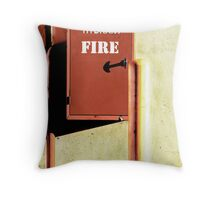 In Case Of Fire! Throw Pillow