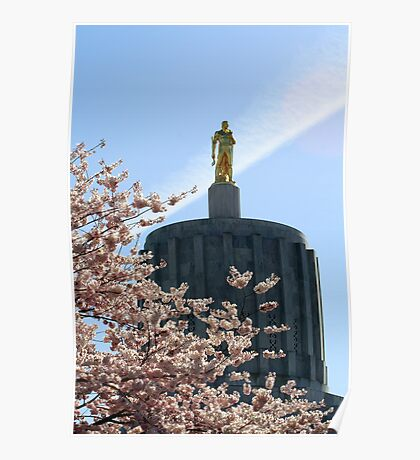 Oregon State Capitol ....The Golden Man Poster