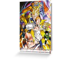 Dragon Ball Z Gogeta Fusion Super Saiyan Greeting Card