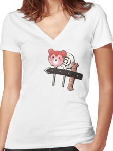 Need a sweet fix, Bubbles? Women's Fitted V-Neck T-Shirt