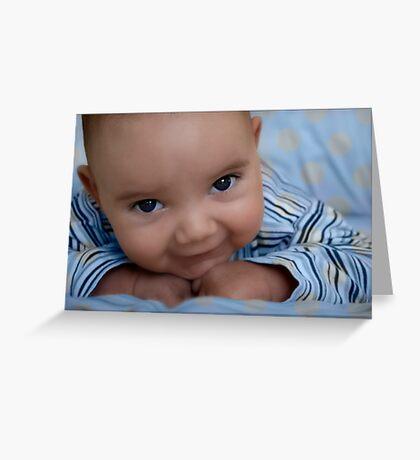 Blue-eyed boy Greeting Card