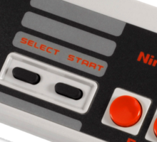 NES Controller Sticker