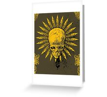 Flower Skull Greeting Card