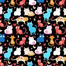 pattern of different cats by Tanor