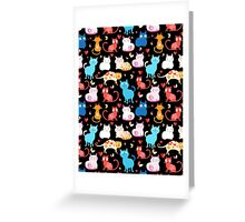 pattern of different cats Greeting Card
