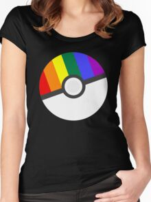 Pokemon 'Prideball' LGBT Pokeball Shirt/Hoodie/etc Women's Fitted Scoop T-Shirt