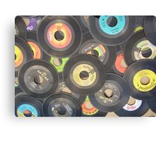 oldies rock n roll records-45's Canvas Print