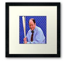 George Costanza baseball bat Framed Print