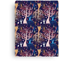 pattern beautiful magical trees Canvas Print