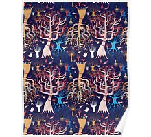 pattern beautiful magical trees Poster
