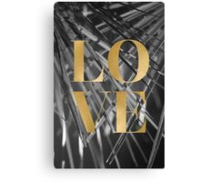Gold foil LOVE typography Canvas Print