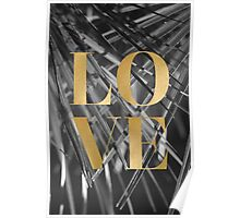 Gold foil LOVE typography Poster