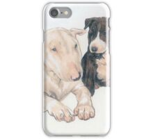 Bull Terrier Puppies iPhone Case/Skin