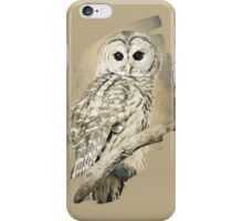 Barred Owl Bw Sepia iPhone Case/Skin