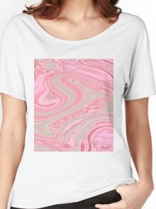 girly elegant cute pink cherry blossom pink swirls  Women's Relaxed Fit T-Shirt