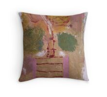 Driving to Work Throw Pillow