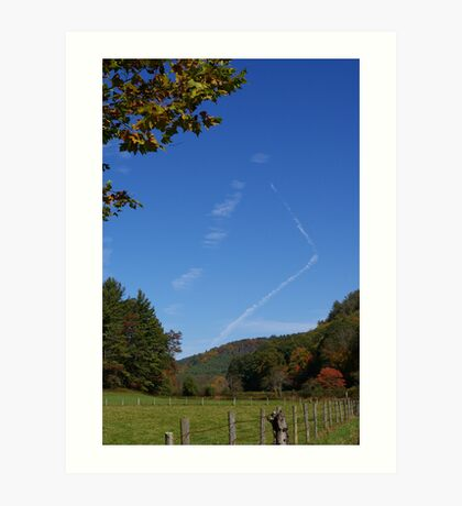 Blue Ridge Sky Art Print