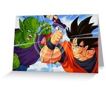Goku vs Piccolo Greeting Card