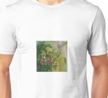 Snapdragons with Palm Tree Unisex T-Shirt