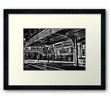 Mono Rail Framed Print