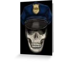 Police_skull Greeting Card