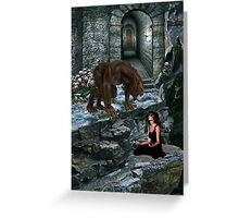 Werewolf and the Maiden Greeting Card
