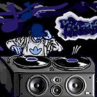 80S DJ ~ I LOVE MUSIC by CustomCanvasART