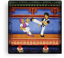 kungfu Canvas Print