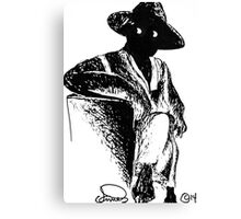 Man In A Hat Canvas Print