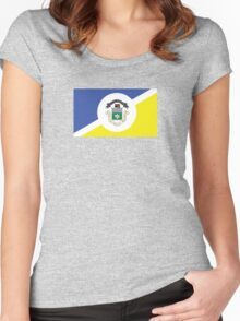 Flag of Winnipeg  Women's Fitted Scoop T-Shirt
