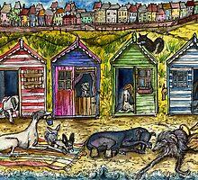 THE BEACH HUTS by Elle J Wilson