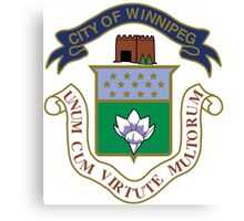 Winnipeg Coat of Arms  Canvas Print