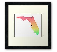 Tampa Love Framed Print