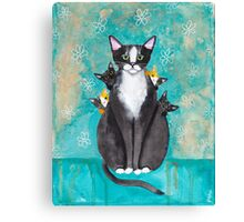 Mother's Day Portrait with Kittens Canvas Print