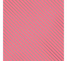 Bright Teal Pinstripe on Neon Pink Photographic Print