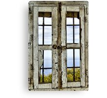 Window, Look Out Tower, Bateria Cenizas, Costa Calida, Spain  Canvas Print