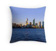 Perth skyline at sunset Throw Pillow