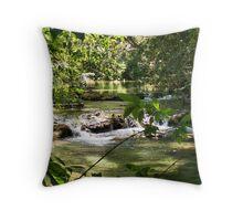 Huatulco Mountain Stream Throw Pillow