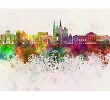 Angers skyline in watercolor background Photographic Print