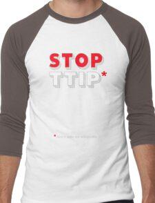 Stop TTIP Men's Baseball ¾ T-Shirt