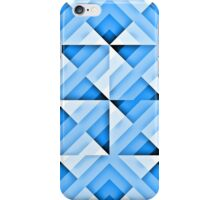 white and blue triangle background iPhone Case/Skin