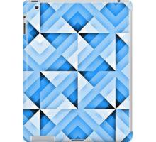 white and blue triangle background iPad Case/Skin