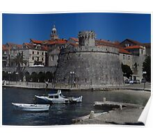 Korcula Old Town Poster