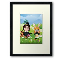 Easter Boy and Girl 3 Framed Print