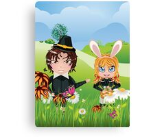 Easter Boy and Girl 3 Canvas Print